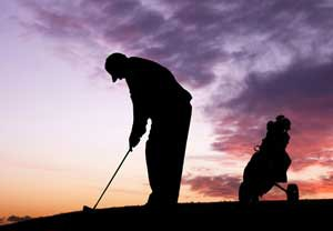 golf-zonsondergang